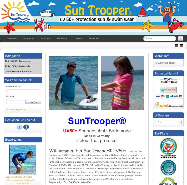 SunTrooper UV Schutz Bademode für Kinder